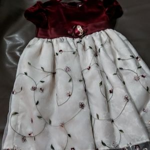 GIRLS SZ. 3T YOUNGLAND EMBROIDERED DRESS